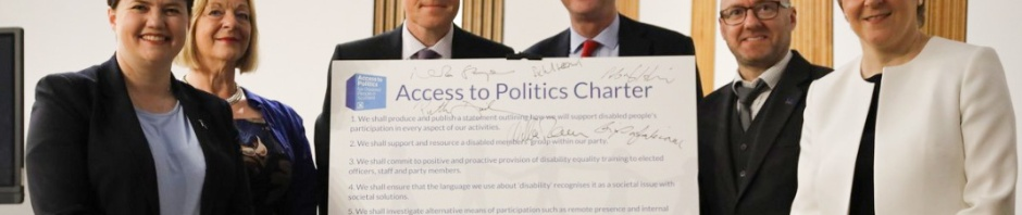 Scottish political party leaders with the Access to Politics Charter