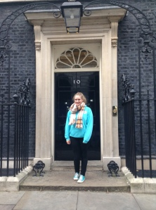 Emily, Girlguiding Ranger, at Downing Street