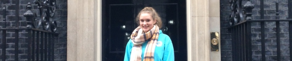 Emily , Girlguiding Ranger, at Downing Street